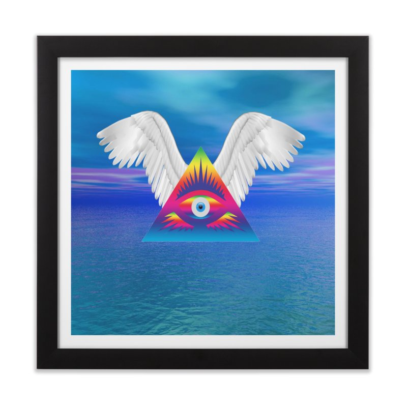 Third Eye with Wings Home Framed Fine Art Print by Matthew Lacey-icarusismartdesigns