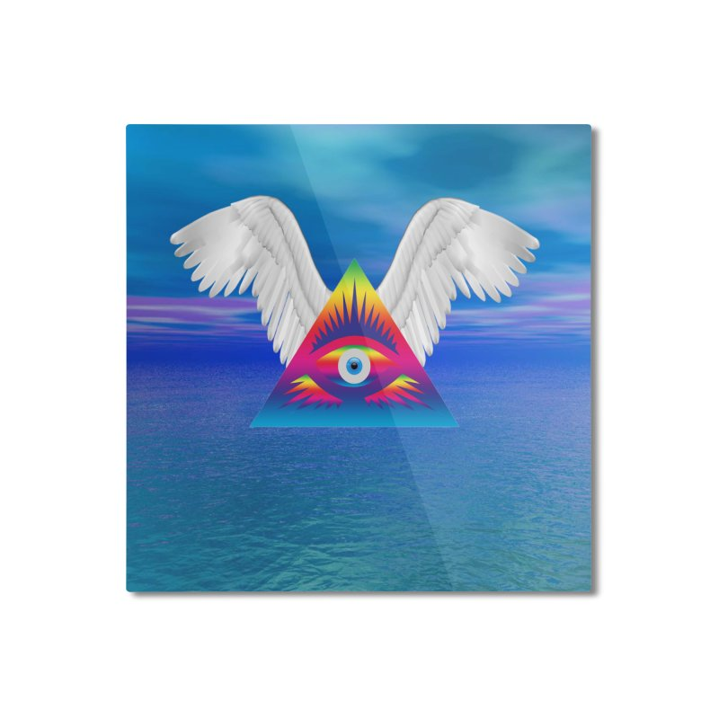 Third Eye with Wings Home Mounted Aluminum Print by Matthew Lacey-icarusismartdesigns