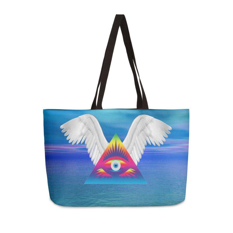Third Eye with Wings Accessories Weekender Bag Bag by Matthew Lacey-icarusismartdesigns