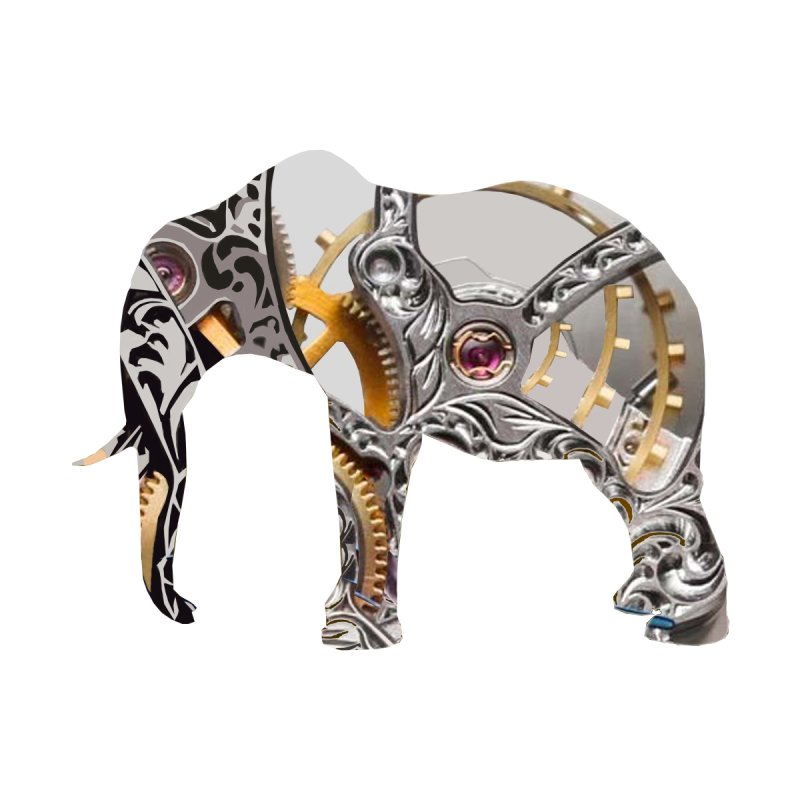 Clockwork Elephant Accessories Bag by Matthew Lacey-icarusismartdesigns