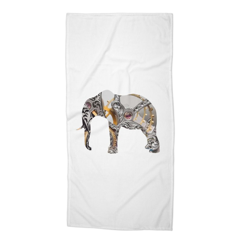 Clockwork Elephant Accessories Beach Towel by Matthew Lacey-icarusismartdesigns