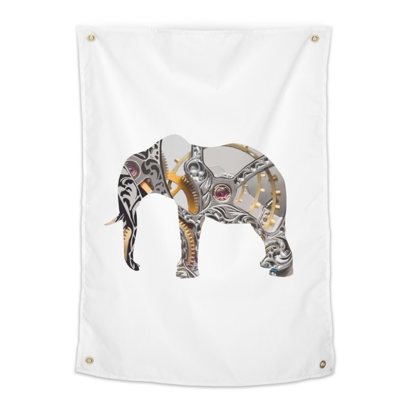 Clockwork Elephant Home Tapestry by Matthew Lacey-icarusismartdesigns