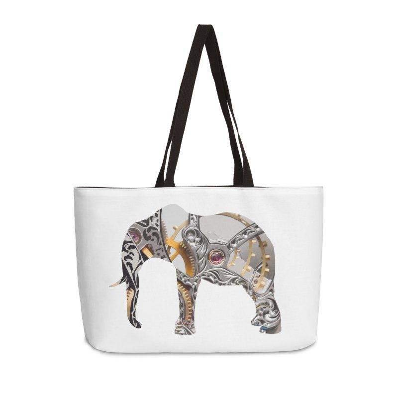 Clockwork Elephant Accessories Bag by Matthew Lacey-icarusismartdesigns