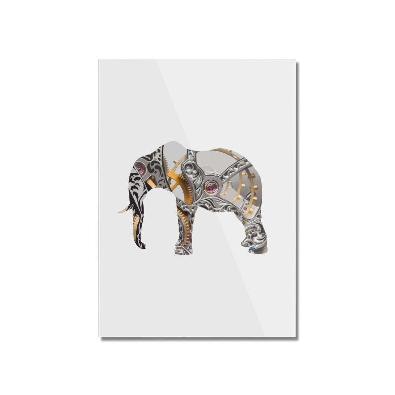 Clockwork Elephant Home Mounted Acrylic Print by Matthew Lacey-icarusismartdesigns