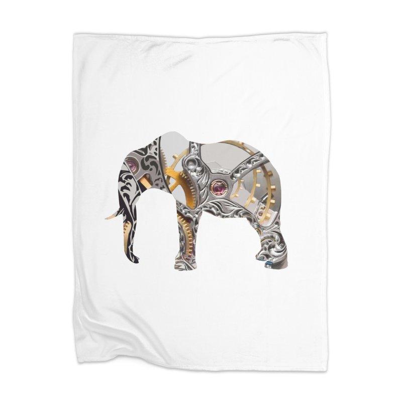 Clockwork Elephant Home Blanket by Matthew Lacey-icarusismartdesigns