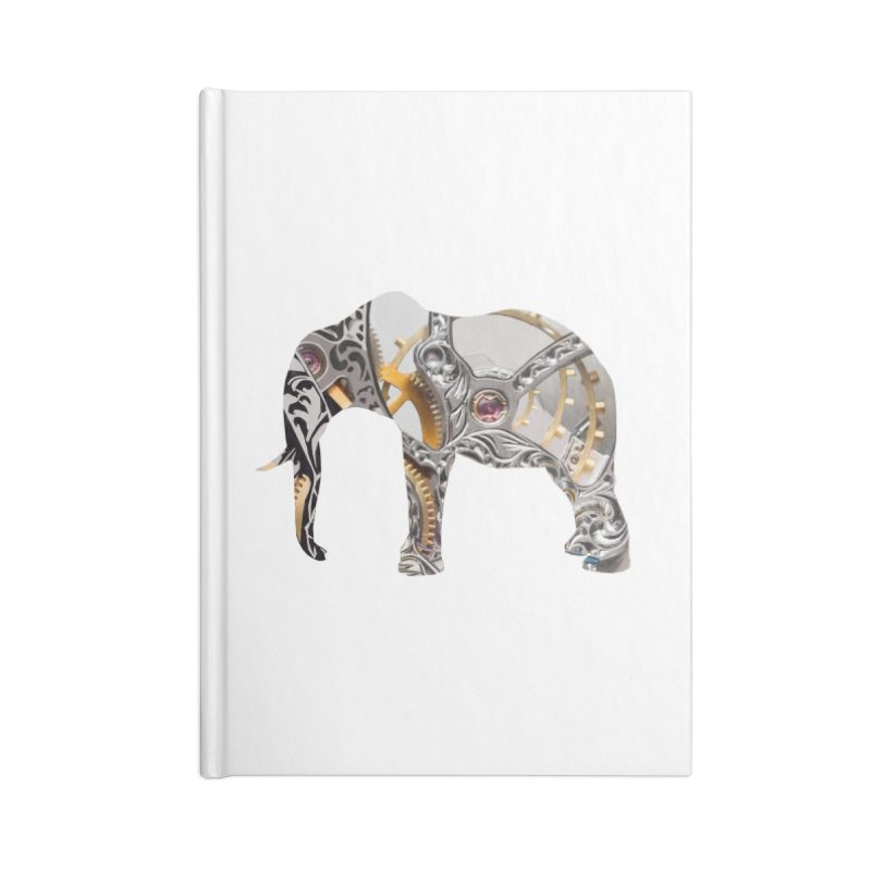 Clockwork Elephant Accessories Lined Journal Notebook by Matthew Lacey-icarusismartdesigns