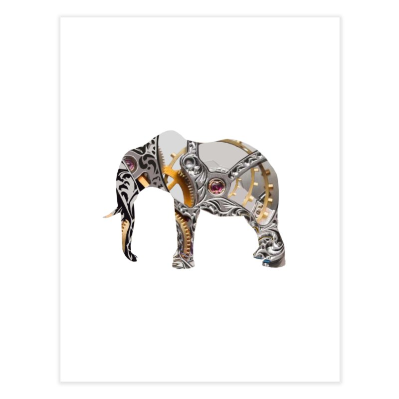 Clockwork Elephant Home Fine Art Print by Matthew Lacey-icarusismartdesigns