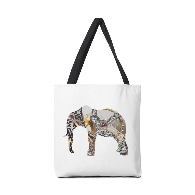 Clockwork Elephant Accessories Tote Bag Bag by Matthew Lacey-icarusismartdesigns