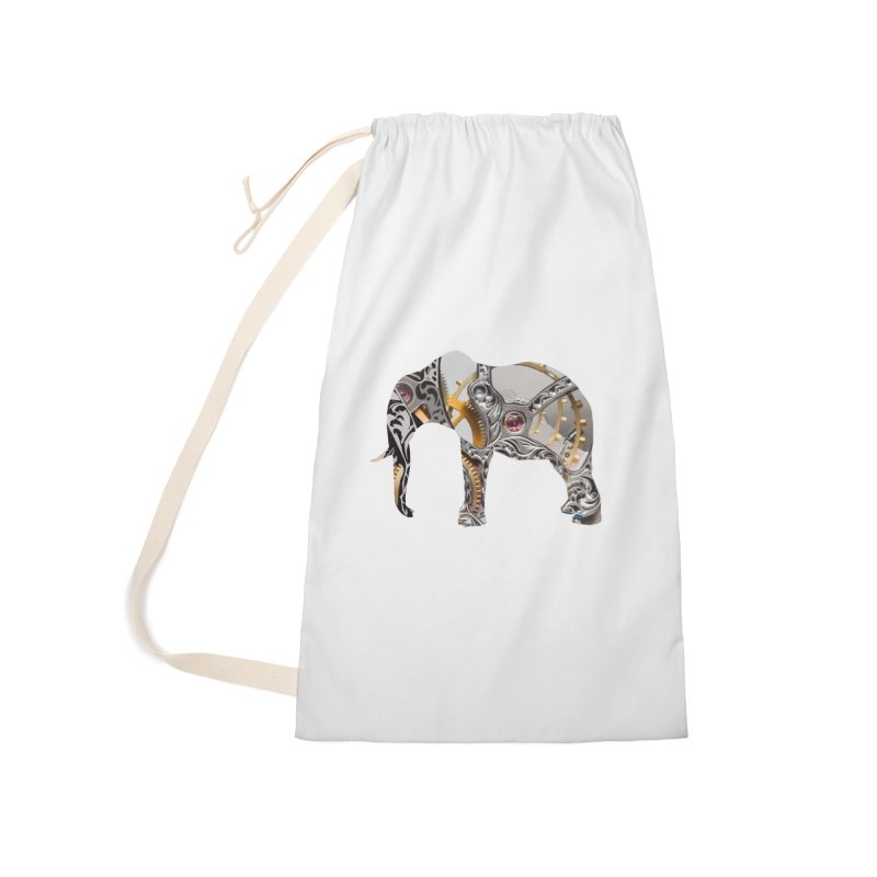 Clockwork Elephant Accessories Laundry Bag Bag by Matthew Lacey-icarusismartdesigns