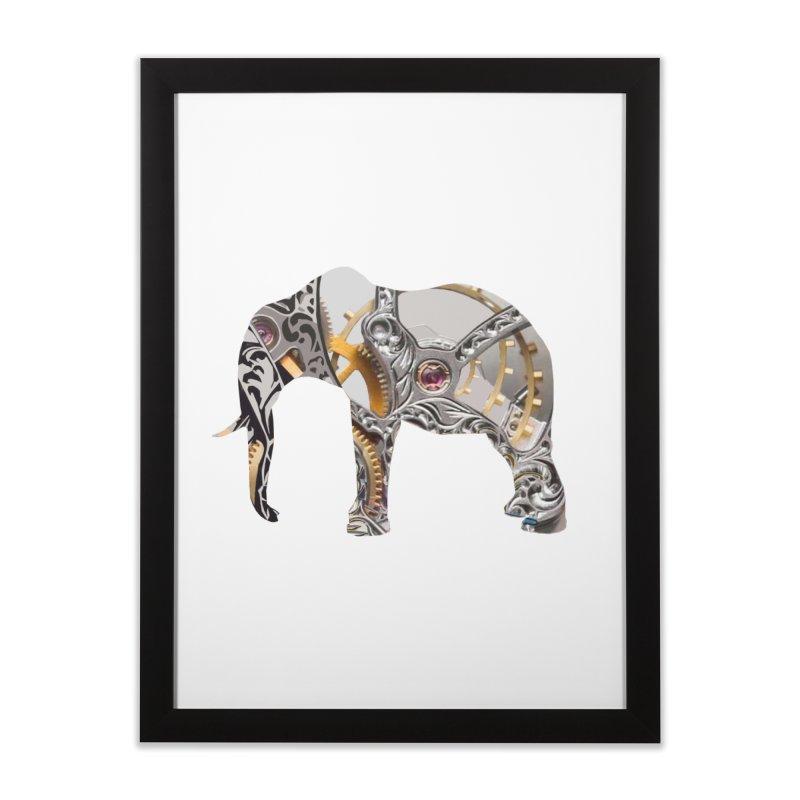 Clockwork Elephant Home Framed Fine Art Print by Matthew Lacey-icarusismartdesigns