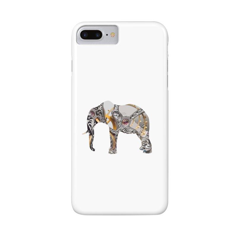 Clockwork Elephant Accessories Phone Case by Matthew Lacey-icarusismartdesigns