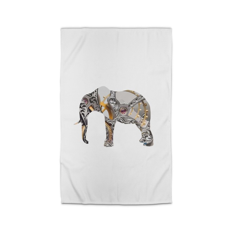 Clockwork Elephant Home Rug by Matthew Lacey-icarusismartdesigns