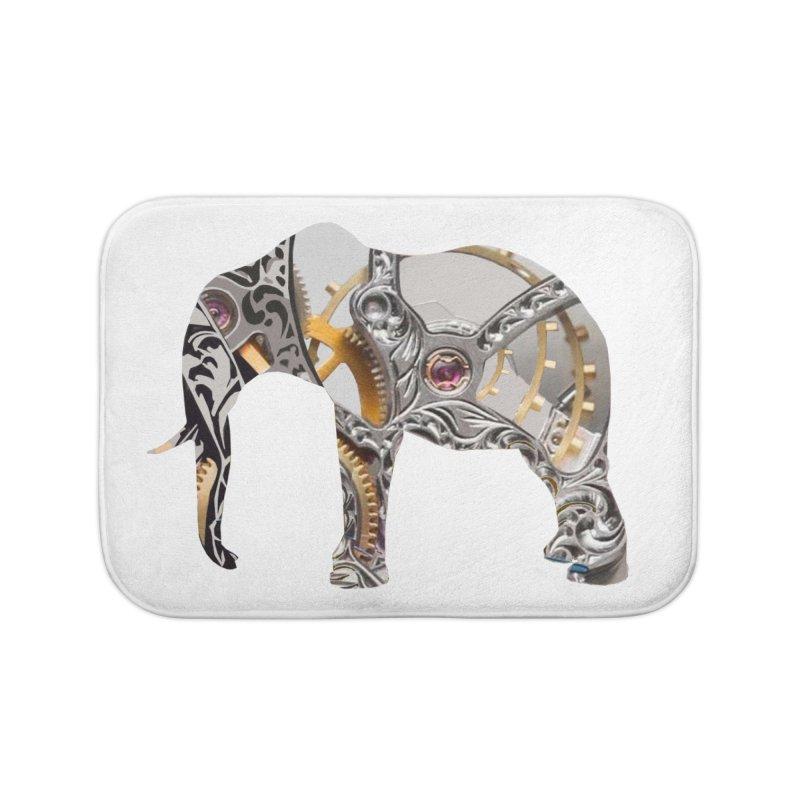 Clockwork Elephant Home Bath Mat by Matthew Lacey-icarusismartdesigns