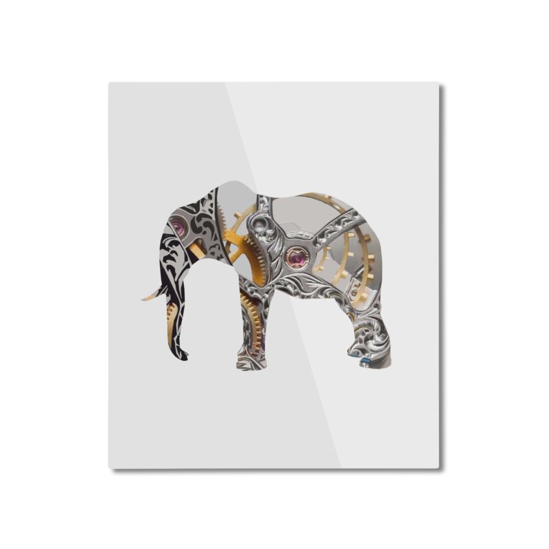 Clockwork Elephant Home Mounted Aluminum Print by Matthew Lacey-icarusismartdesigns