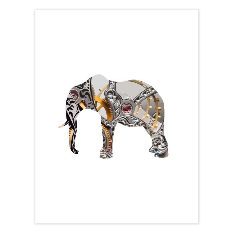 Clockwork Elephant Home Fine Art Print by Matthew Lacey-icarusismartdesigns