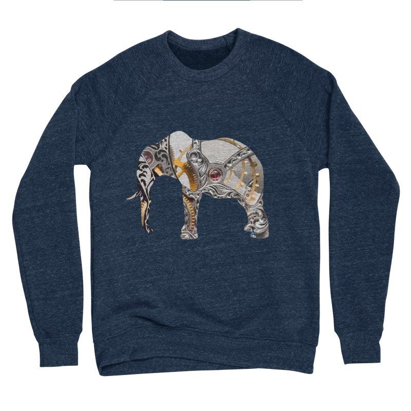 Clockwork Elephant Women's Sponge Fleece Sweatshirt by Matthew Lacey-icarusismartdesigns
