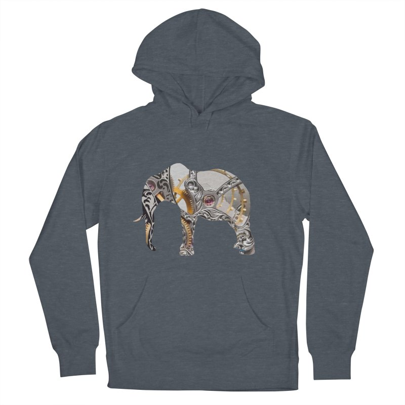 Clockwork Elephant Women's French Terry Pullover Hoody by Matthew Lacey-icarusismartdesigns