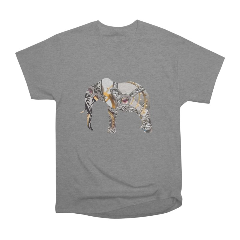 Clockwork Elephant Men's Heavyweight T-Shirt by Matthew Lacey-icarusismartdesigns
