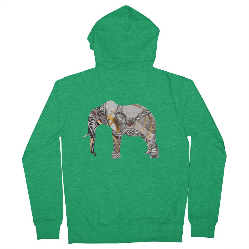 Clockwork Elephant Women's Zip-Up Hoody by Matthew Lacey-icarusismartdesigns
