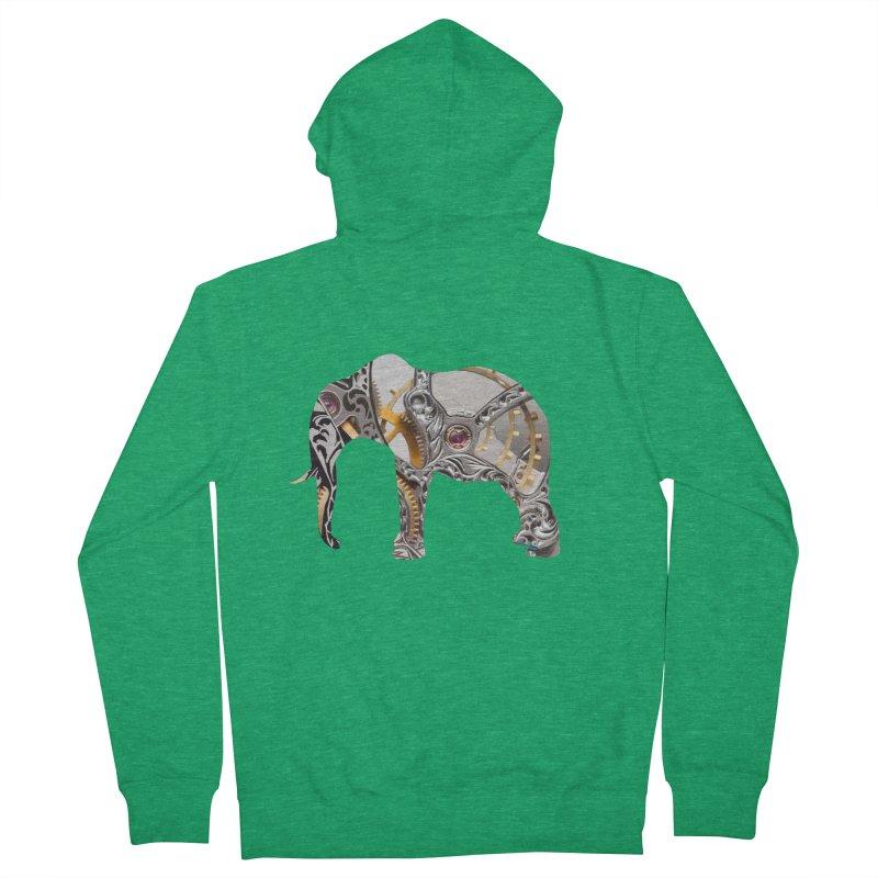 Clockwork Elephant Men's Zip-Up Hoody by Matthew Lacey-icarusismartdesigns