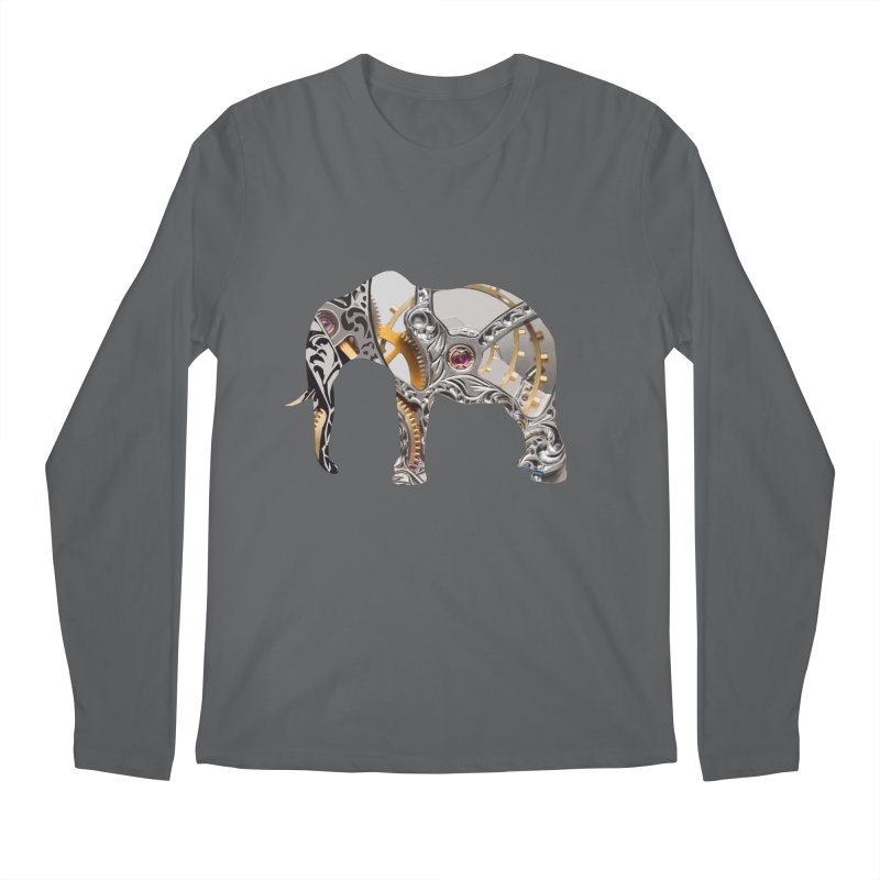 Clockwork Elephant Men's Longsleeve T-Shirt by Matthew Lacey-icarusismartdesigns