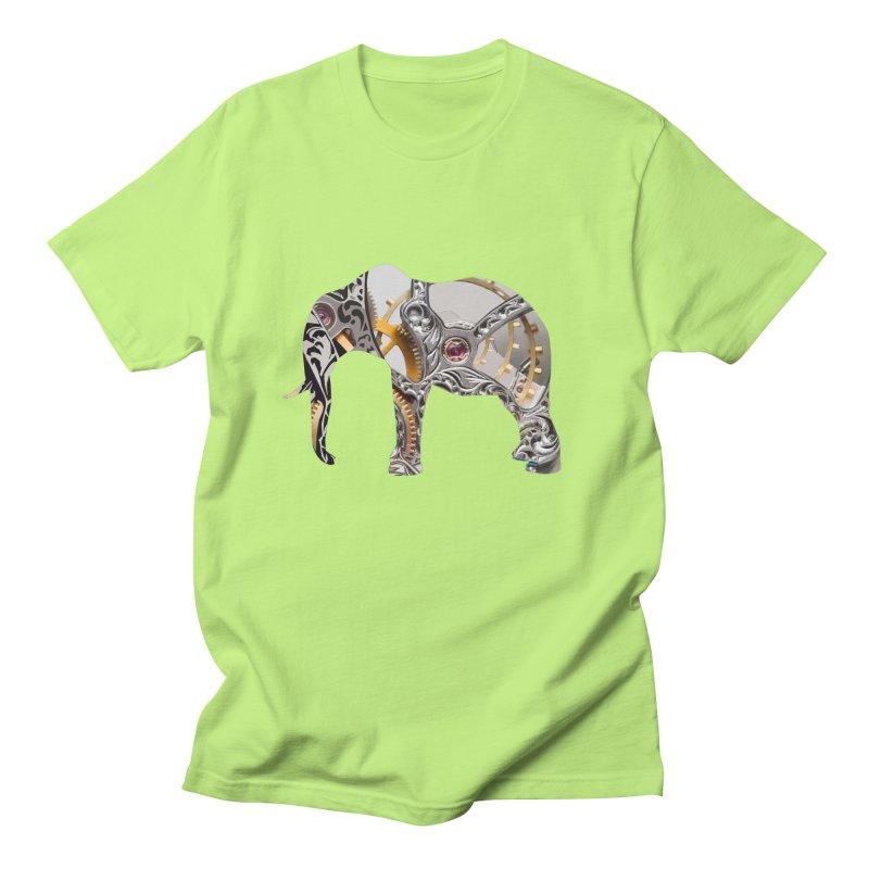 Clockwork Elephant Women's Regular Unisex T-Shirt by Matthew Lacey-icarusismartdesigns