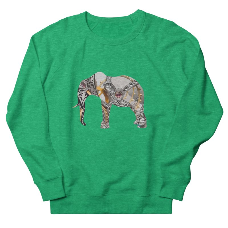 Clockwork Elephant Women's Sweatshirt by Matthew Lacey-icarusismartdesigns