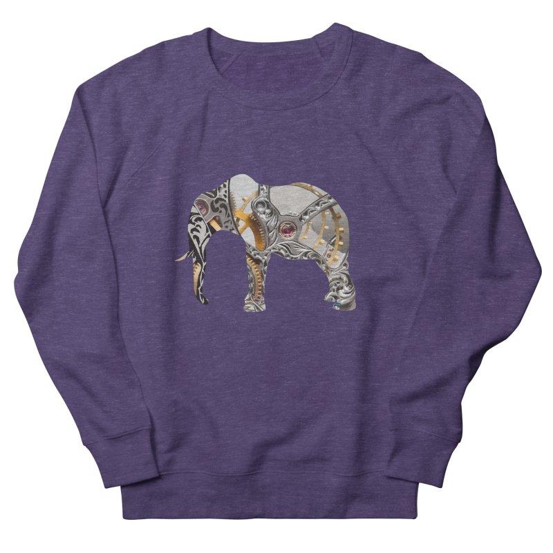 Clockwork Elephant Men's French Terry Sweatshirt by Matthew Lacey-icarusismartdesigns