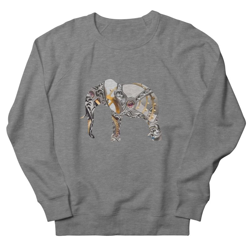 Clockwork Elephant Men's Sweatshirt by Matthew Lacey-icarusismartdesigns