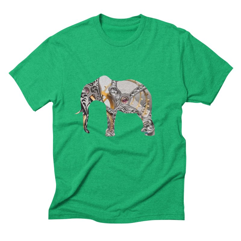 Clockwork Elephant Men's Triblend T-Shirt by Matthew Lacey-icarusismartdesigns