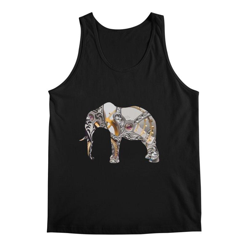 Clockwork Elephant Men's Regular Tank by Matthew Lacey-icarusismartdesigns