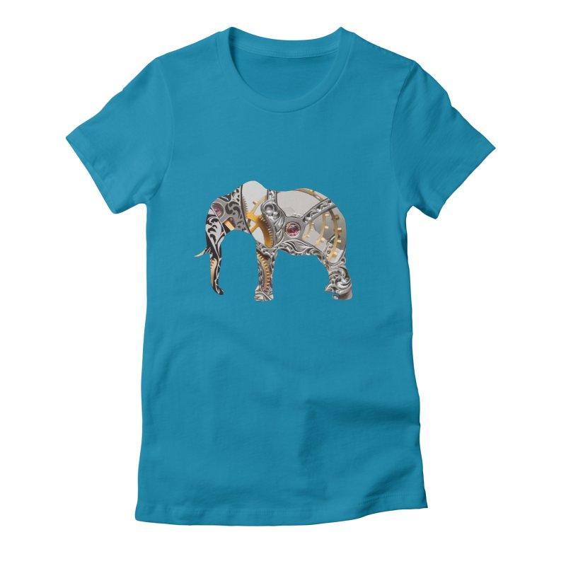 Clockwork Elephant Women's T-Shirt by Matthew Lacey-icarusismartdesigns