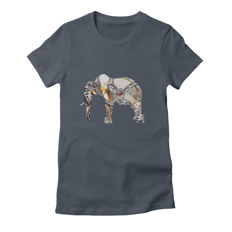 Clockwork Elephant Women's T-Shirt by Matthew Lacey-icarusismartdesigns