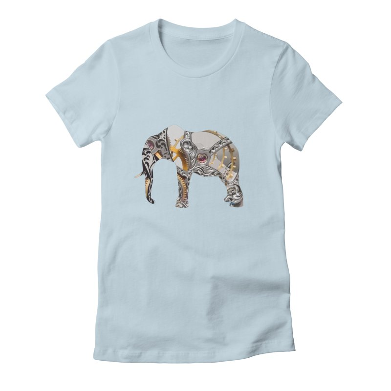 Clockwork Elephant Women's Fitted T-Shirt by Matthew Lacey-icarusismartdesigns