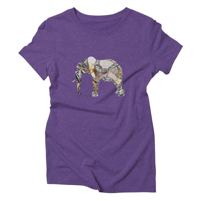 Clockwork Elephant Women's Triblend T-Shirt by Matthew Lacey-icarusismartdesigns