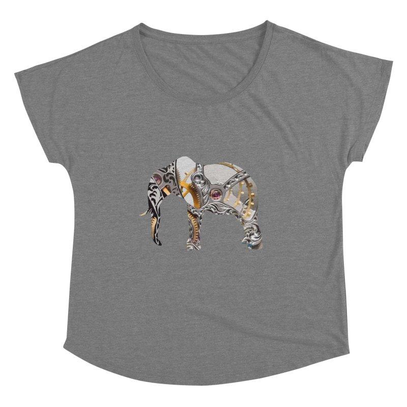 Clockwork Elephant Women's Scoop Neck by Matthew Lacey-icarusismartdesigns