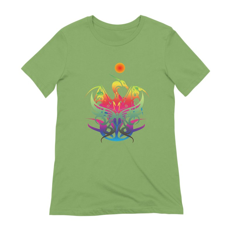 Star Dragon Women's Extra Soft T-Shirt by Matthew Lacey-icarusismartdesigns