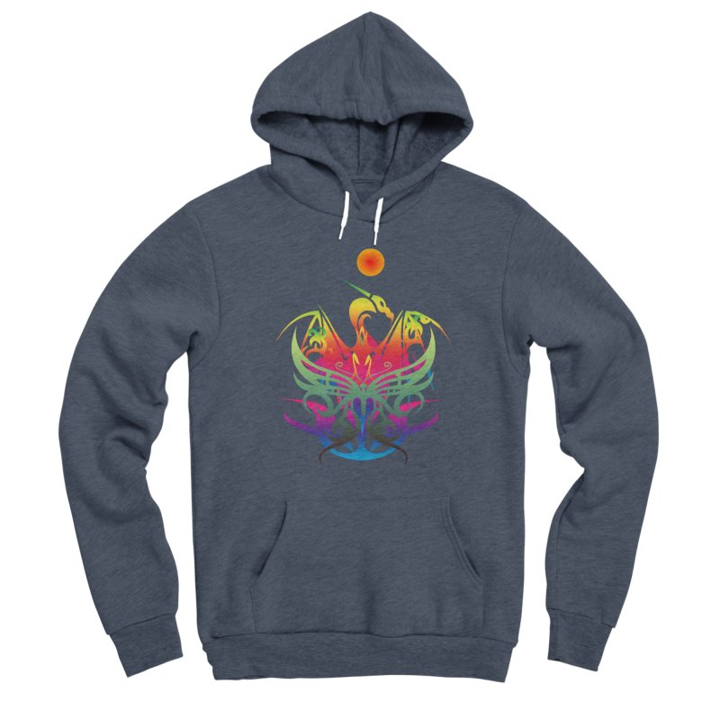 Star Dragon Men's Pullover Hoody by Matthew Lacey-icarusismartdesigns