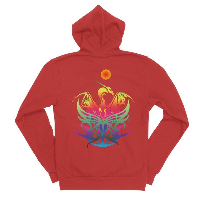 Star Dragon Women's Sponge Fleece Zip-Up Hoody by Matthew Lacey-icarusismartdesigns