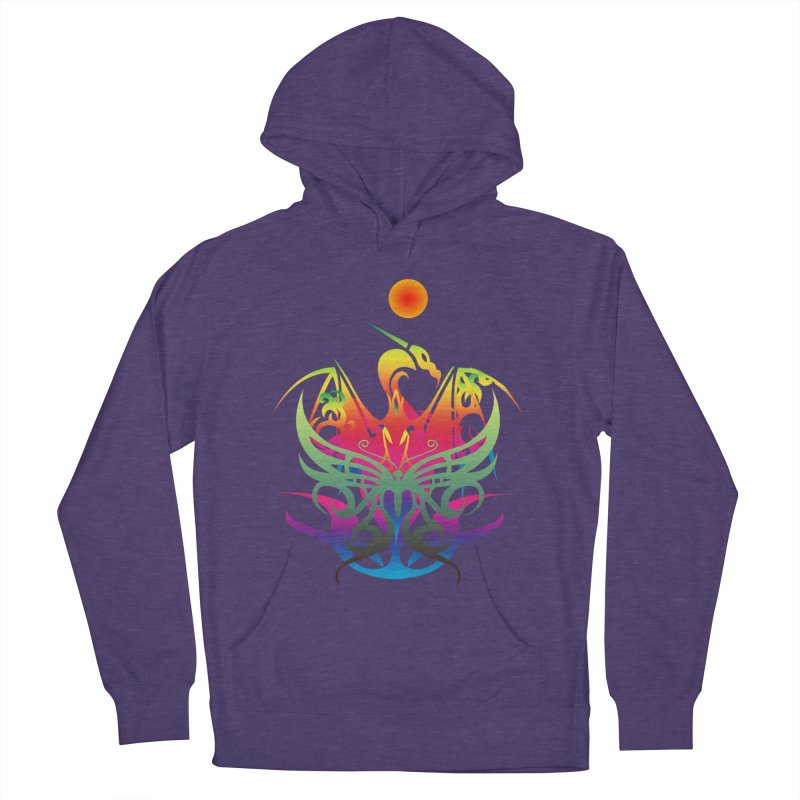 Star Dragon Women's French Terry Pullover Hoody by Matthew Lacey-icarusismartdesigns