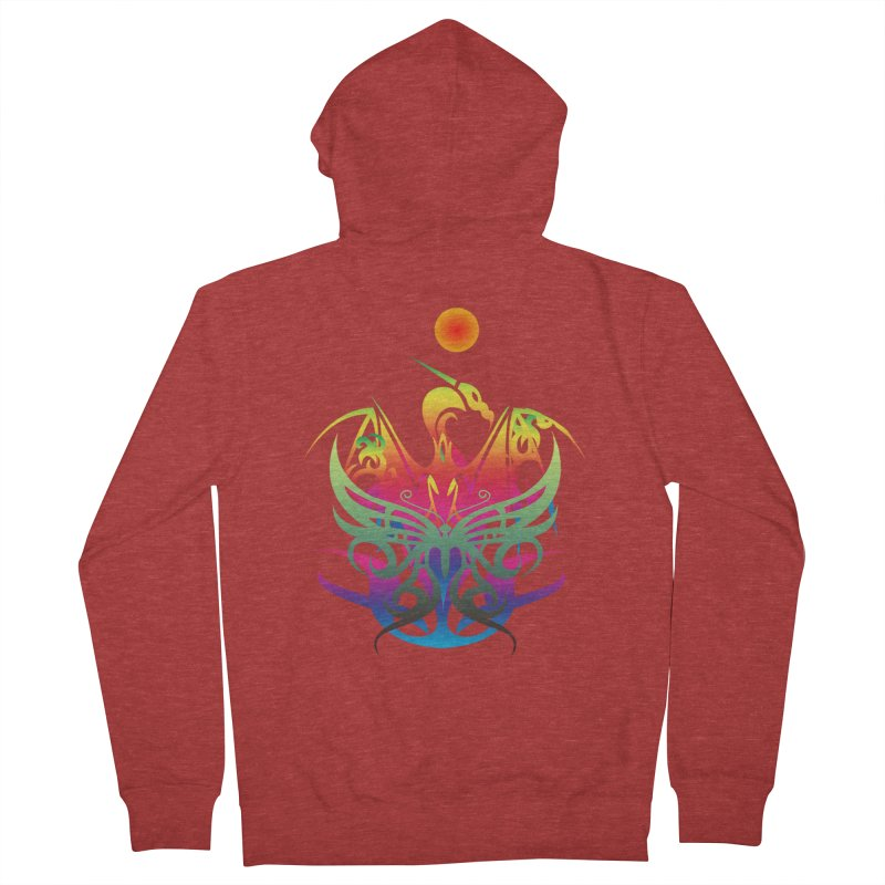 Star Dragon Women's French Terry Zip-Up Hoody by Matthew Lacey-icarusismartdesigns