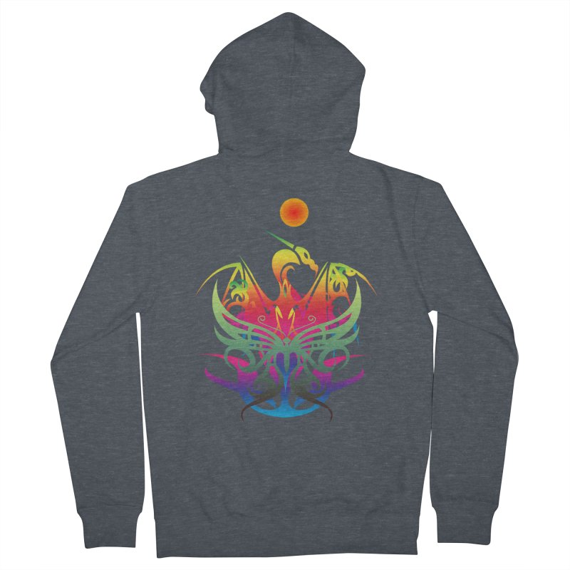 Star Dragon Men's French Terry Zip-Up Hoody by Matthew Lacey-icarusismartdesigns