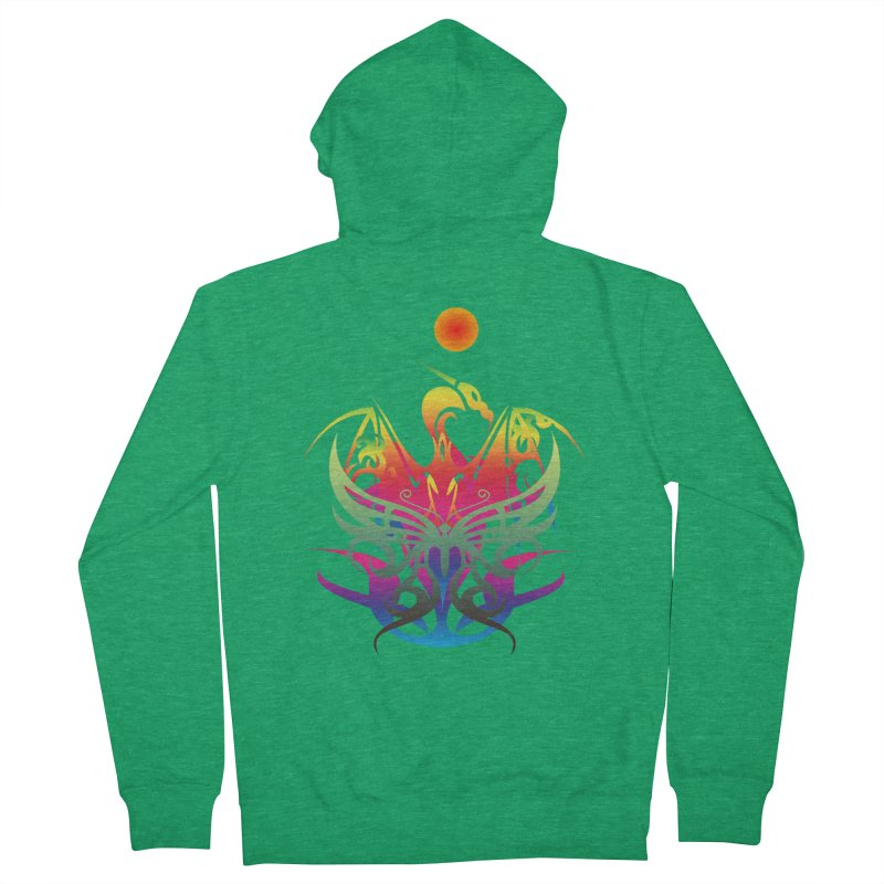 Star Dragon Men's Zip-Up Hoody by Matthew Lacey-icarusismartdesigns
