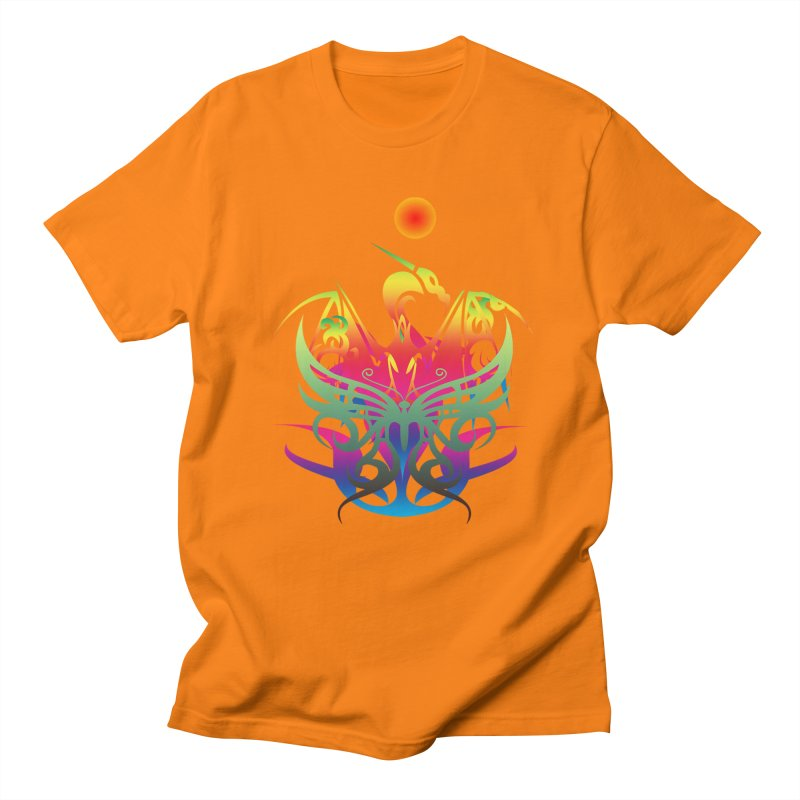 Star Dragon Men's Regular T-Shirt by Matthew Lacey-icarusismartdesigns