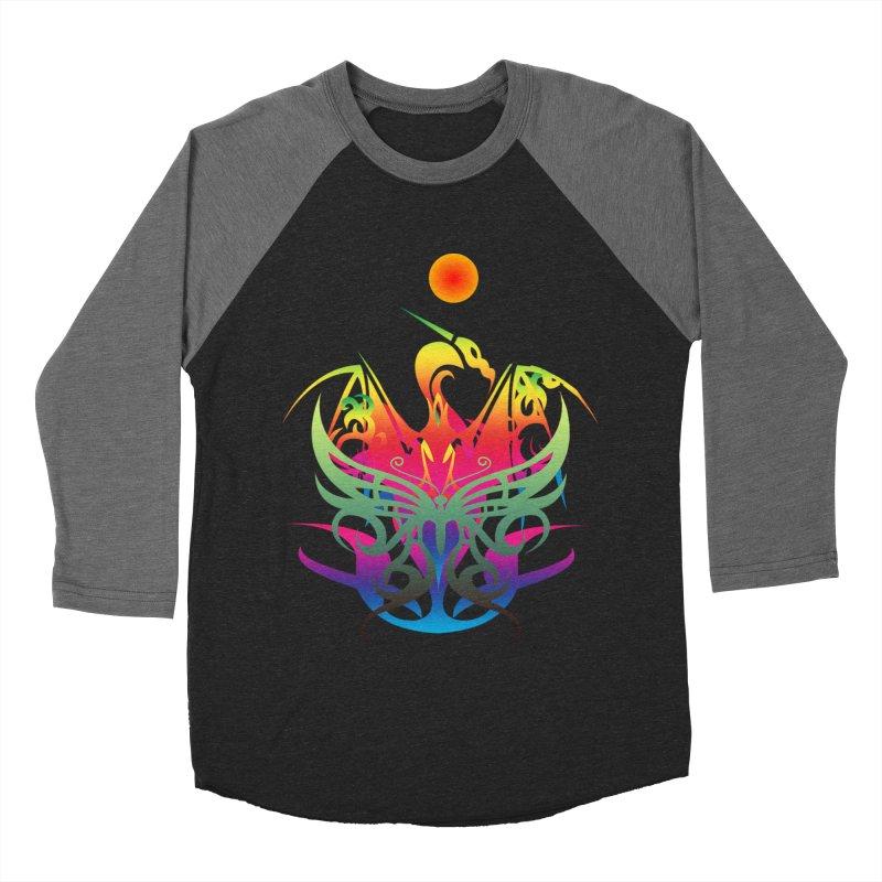Star Dragon Women's Baseball Triblend Longsleeve T-Shirt by Matthew Lacey-icarusismartdesigns