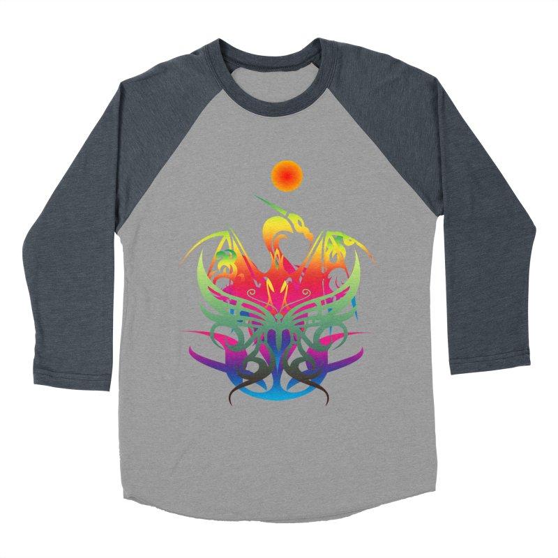 Star Dragon Men's Baseball Triblend Longsleeve T-Shirt by Matthew Lacey-icarusismartdesigns