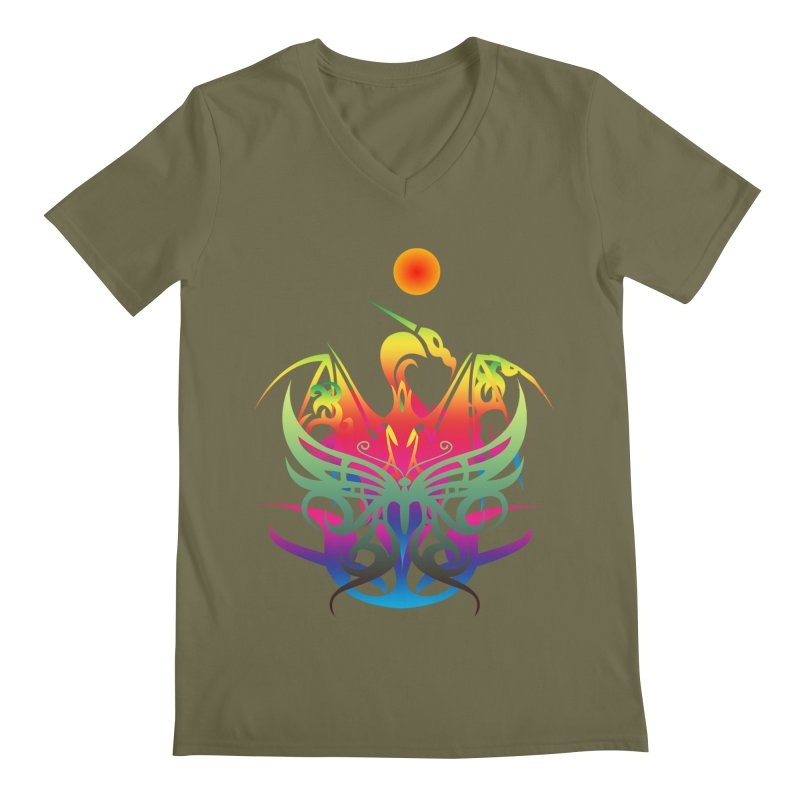 Star Dragon Men's Regular V-Neck by Matthew Lacey-icarusismartdesigns