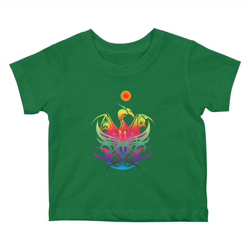 Star Dragon Kids Baby T-Shirt by Matthew Lacey-icarusismartdesigns