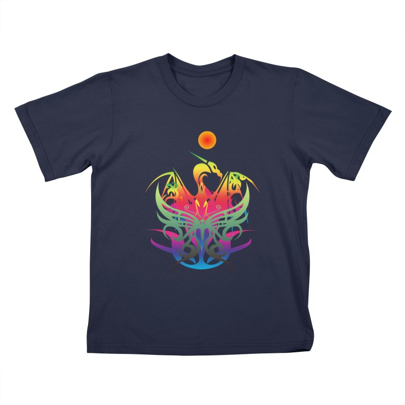 Star Dragon Kids T-Shirt by Matthew Lacey-icarusismartdesigns