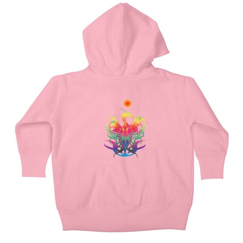 Star Dragon Kids Baby Zip-Up Hoody by Matthew Lacey-icarusismartdesigns
